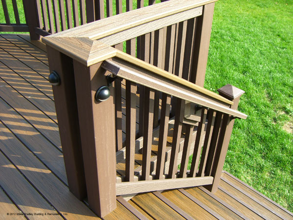 Let miles bradly enhance your deck with deck rail lighting miles there are many decisions to be made when having a new deck built or even rebuilding or enhancing an old deck aloadofball Image collections
