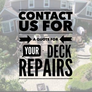 inspect your deck for repairs
