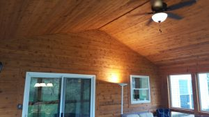 cedar and T&G Trim 3 season room